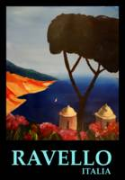 Ravello Salerno Italy View of Amalfi Coast Retro V
