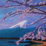"""Marvellous Mount Fuji with Cherry Blossom in Japan"" by arthop77"