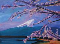 Marvellous Mount Fuji with Cherry Blossom in Japan