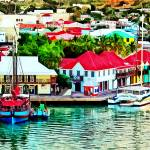 """Antigua - St. Johns Harbor Early Morning"" by susansartgallery"