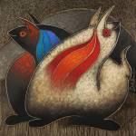 """Fantasia andina 2, oil on canvas"" by delabarra"