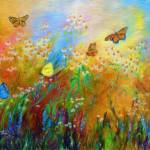 """Chamomile Garden Colorful"" by GinetteCallaway"