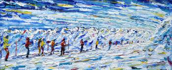 Skiing Snowboarding Paintings