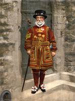 A Yeoman Warder in Tudor State Dress 1895