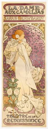 Alfons Mucha's 1896 poster for a production of La