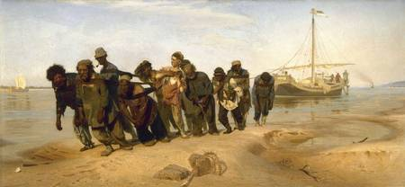Barge Haulers on the Volga by Ilya Repin 1869