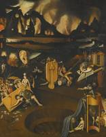 FOLLOWER OF HIERONYMUS BOSCH - THE FURNACE OF HELL