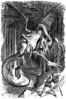 Illustration to the poem Jabberwocky by John Tenni