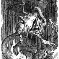 Illustration to the poem Jabberwocky by John Tenni Art Prints & Posters by Adam Asar