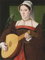 Master of the 1540s Portrait of a Woman Playing a