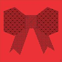 Red Fabric Bow Origami