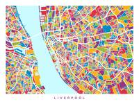 Liverpool England Street Map