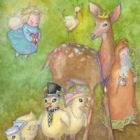 let's go down to the river to pray Art Prints & Posters by Laurel Nelson
