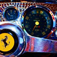 1959 Ferrari 250GT PF Cockpit Art Prints & Posters by David Caldevilla