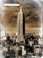 Empire State Building Blimp Docking Sepia