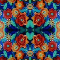 FOLK FLOWERS  by Patti Friday