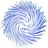 Fire Art Round Swirl Blue