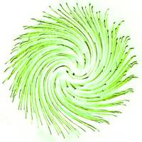 Fire Art Round Swirl Green