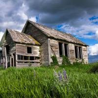 Idaho Farmhouse Art Prints & Posters by David Kocherhans