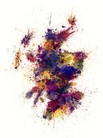 Scotland Paint Splashes Map