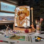 """Painting Van Gogh"" by DLineGraphics"