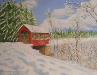 High Mowing Covered Bridge - Winter