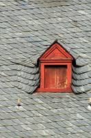 Attic window on rooftop