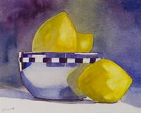 Silver bowl with lemons