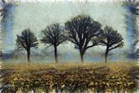 4 Trees in February  by Humphrey Isselt