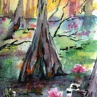 Tree 2 Beauty Among The Cypress Trees Art Prints & Posters by Ginette Callaway