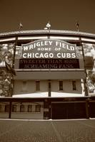 Chicago - Wrigley Field 2010 #2 Sepia