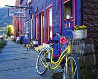 Yellow Bicycle At The Silverton Hostel