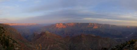 Sunrise Grand Canyon South Rim Panorama