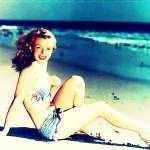 """MARILYN ON A BEACH."" by DADIO"