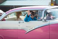 1955 Pink Crown Victoria with Elvis Impersonator