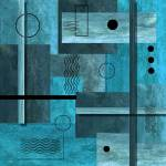 """Contemporary Abstract Blue"" by peggygarr"