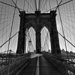 """Brooklyn bridge black and white"" by byvalet"
