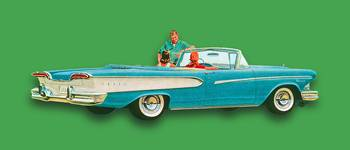Edsel Car Advertisement Convertible Green