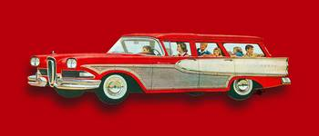 Edsel Car Advertisement Wagon Red