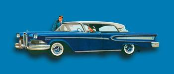 Edsel Citation Car Advertisement Sedan Blue