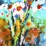 """Wild Daffodils Modern Mixed Media"" by GinetteCallaway"