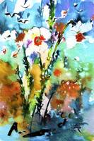 Wild Daffodils Modern Mixed Media