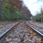 """Railroad tracks in Fall"" by theparachutist"