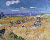 Vincent Van Gogh Wheat Stacks With Reaper