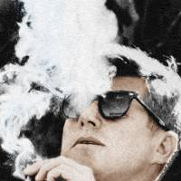 """John F Kennedy Cigar and Sunglasses"" by RubinoFineArt"