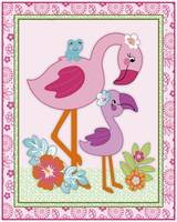Tropical Flamingo Garden Nursery Art