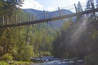 Rock Creek Swinging Bridge outside Missoula Montan