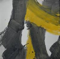 Yellow And Black Abstract 2
