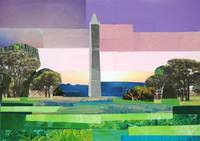 Pastel View of the Washington Monument
