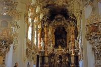 In the Wieskirche, Upper Bavaria, Germany
